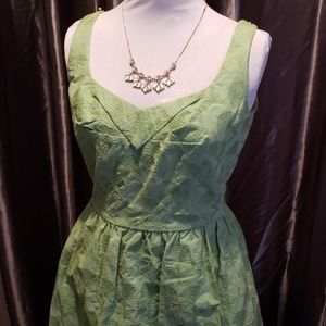 ANTONIO MELANI SEA GREEN  EMBROIDERED DRESS *41